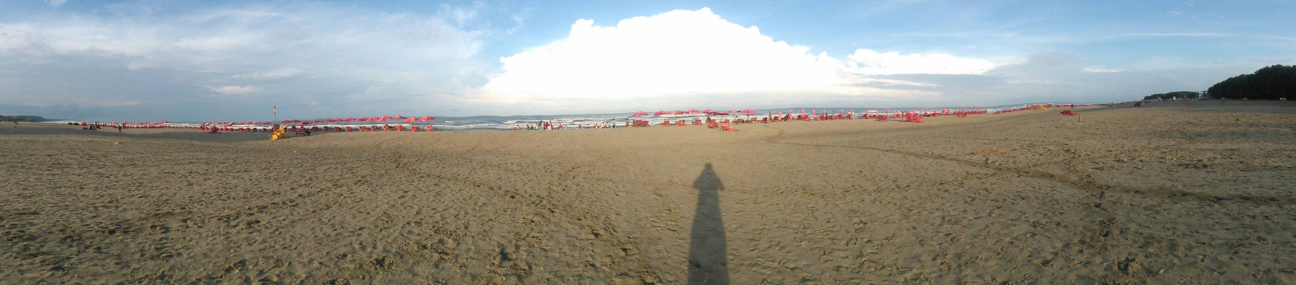At the Beach Panoramic Shadow Daylight Sun Beauty