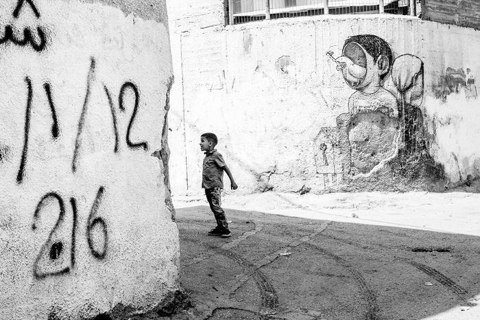 Monochrome Photography Spray Paint Blackandwhite Fujifilm_xseries FUJIFILM X-T1 Candid Photography Open Edit Street Photography Palestine Palestine Street Westbank Graffiti Graffitiart Graffiti Wall Bethlehem Freedom Conflict