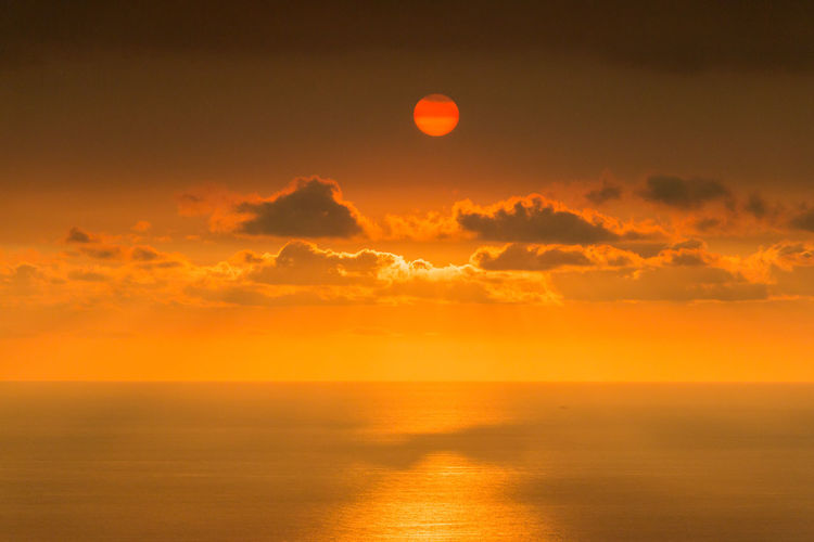 Astronomy Beauty In Nature Cloud - Sky Day Horizon Over Water Moon Nature No People Outdoors Scenics Sea Sky Sun Sunlight Sunset Tranquil Scene Tranquility Water