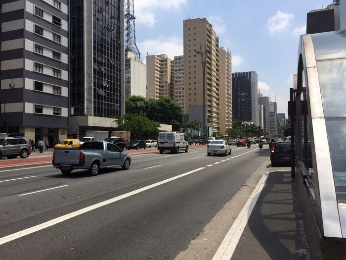 PAULISTA AVENUE SAO PAULO BRAZIL SUMMER MARCH 08 2016 Architecture Arquitecture Building Building Exterior Built Structure Car City City Life City Street Cityscape Composition EyeEm Team Land Vehicle Leading Modern Office Building Outdoors Perspective Road Street Summer The Way Forward Transportation Urban