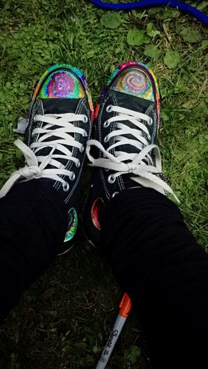 Sharpies are my best friend 🎨. Tie Dye.  Converse All Star Sharpies  Art Shoes