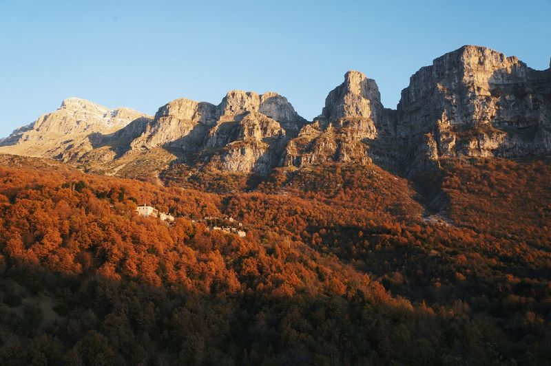 Clear Sky No People Nature Outdoors Day Village Mountain Mikro Pipagio Autumn Close-up Representing Orange