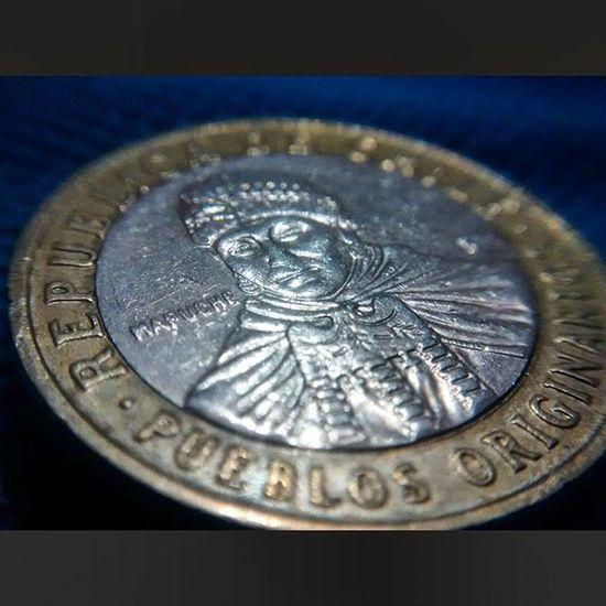 Chile Macro Me Cash Pictureoftheday Photooftheday Memories Silver  Money Beauty Amazing Hermoso Nano Loves_chile Original Pueblos Mapuche Money Micro Details
