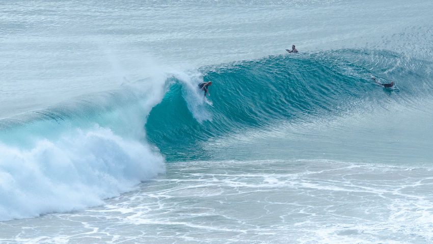 Lifestyles Power In Nature Sea Surfers Surfing Tubes Water Wave