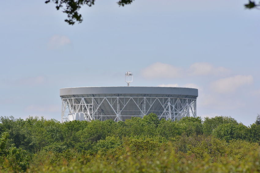 All My Own Work Architectural Feature Built Structure Cloud - Sky Eye4photography  Green Color Growth International Landmark Jodrell Bank Low Angle View Nikon D5200 No People Outdoors Sky Tourism Tree
