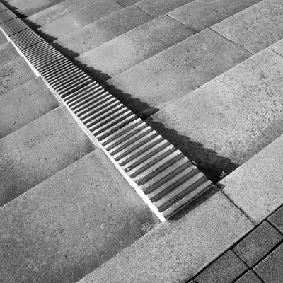 Shady Ribblings Abstract Architectural Detail Backgrounds Black And White Photography Close-up Composition Day Diagonal High Angle View No People Outdoors Pattern Shadows Steps Textured  Urban Geometry Fine Art Photography The City Light Minimalist Architecture Minimalz Art Is Everywhere The Architect - 2017 EyeEm Awards Black And White Friday The Graphic City