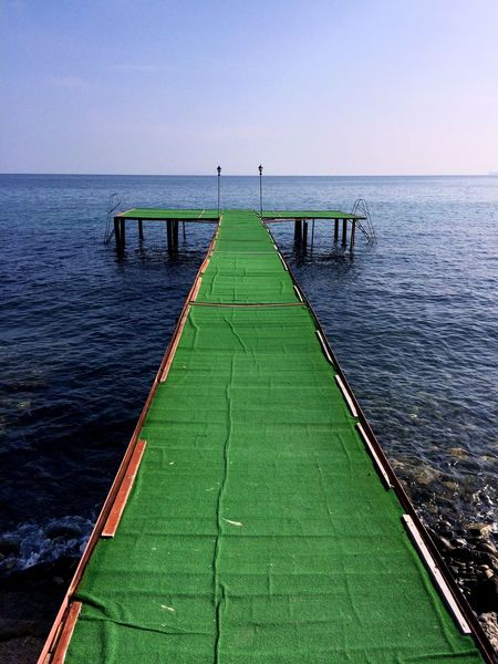 Learn & Shoot: Leading Lines ILoveMyCity Lines Green Pier Summerend Light Sea Sea And Sky Traveling