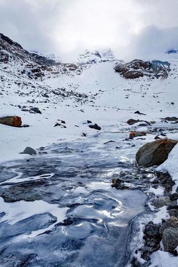 glacier in high