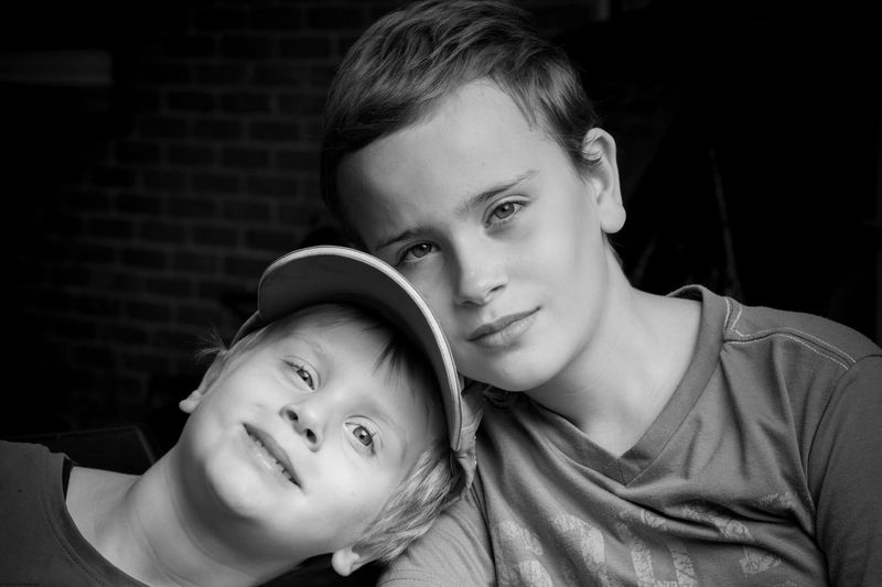 Brothers Day Close-up EyeEm Best Shots EyeEmNewHere Enjoying Life EyeEm Selects EyeEm Gallery First Eyeem Photo Focus On Foreground Full Frame People Blackandwhite Boy Kids Brother Family Portrait Blackandwhite Child Bonding Portrait Togetherness Childhood Males  Men Family Bonds Affectionate Embracing Arm Around Hugging The Portraitist - 2019 EyeEm Awards