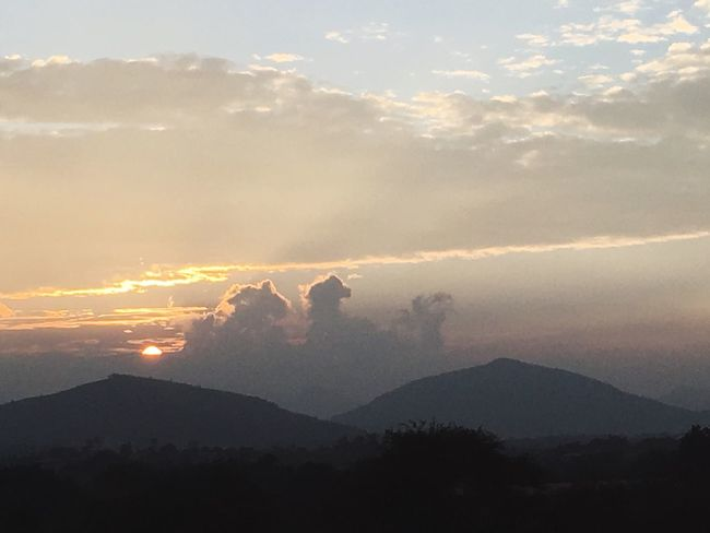 Clouds Or Couples Kissing? Sky Mountain Beauty In Nature Scenics Nature Mountain Range Tranquil Scene Landscape Tranquility Cloud - Sky Idyllic No People Sunbeam Sunset Outdoors Mountain Peak Day Running Horse Live For The Story