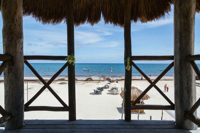 My trip to Mexico Beautiful Mexico Cancun Paradise David Gutierrez Pixelperfectnyc Myview Blue Sky White Sand Beach