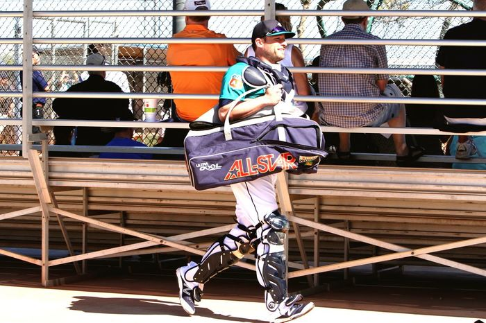 The Catcher Walk Check This Out Hanging Out Enjoying Life Taking Photos IPhoneography Baseball Sports Photography Seattlemariners Sport SpringTraining  Arizona Baseballplayers