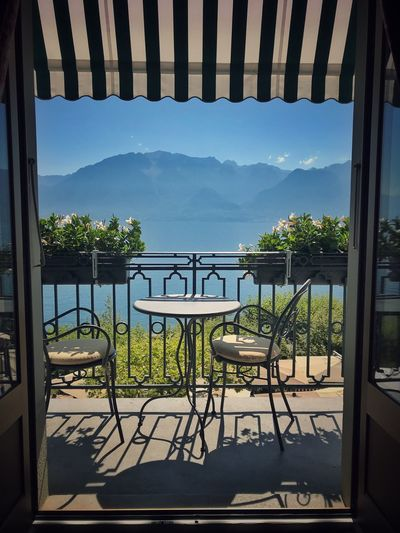 Summer memories Summer Days Summer Luxury Hotel Lake View Balcony View Mountain Chair Sunlight Nature Seat No People