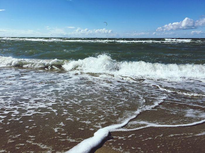 Warnemünde, Strand, Ostsee, Meer, Sommer Sonne, Wolken, Wellen, iPhone 6s