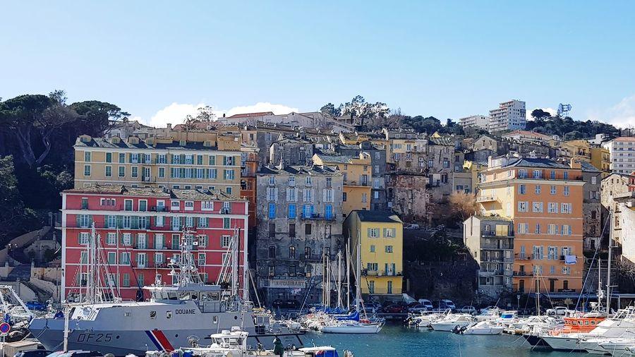 la ville de Bastia en haute corse Yachts Yacht Quartier Bastia ⚽️🙈😱⚽️🐶❤️ Port Beauty In Nature Beautiful Nature Beautiful Day Corsica Corse Voilier Bastia Ciel Et Nuages Outdoors Day No People Mountain Water Sky