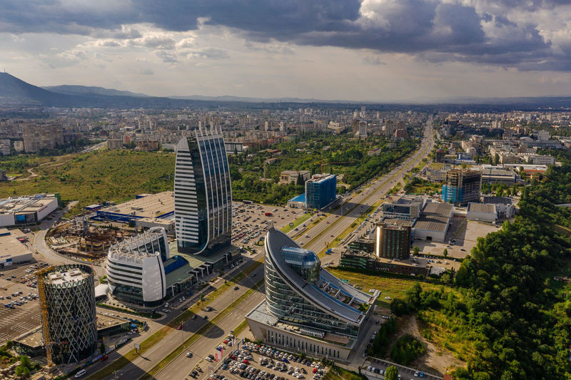Birds view 5 Airial Photography Mavic2pro Sofia, Bulgaria Aerial View Architecture Building Building Exterior Built Structure Bulgaria Capital Cities  City Cityscape Cloud - Sky Day Djimavic2pro Drone Photography Financial District  High Angle View No People Office Building Exterior Outdoors Scenics Sky Skyscraper Sofia