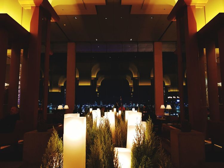 hotel lobby view Korea Photos Hotel Lobby Lobby View Interior Design Interior Restraunt Music Musician Musical Instrument Doublebass Contrabass Lights Light And Shadow Lifestyles Indoors  No People Luxury Day Illuminated Indoors  Night Architectural Column Built Structure In A Row Architecture