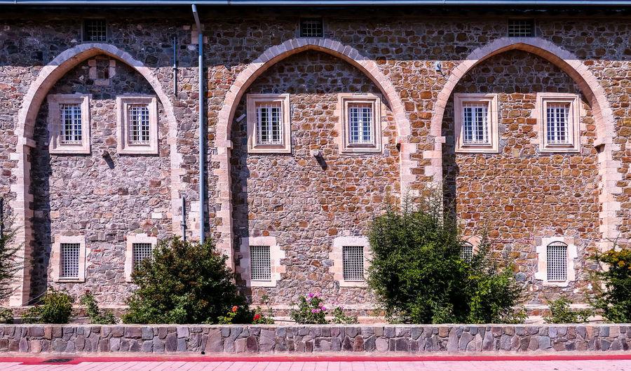 Brick wall of