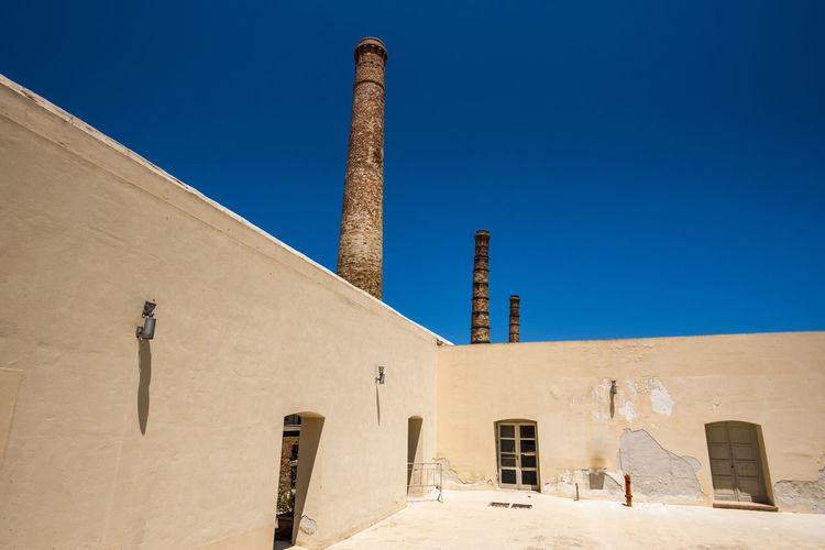 Industrial architecture of the tonnara florio in the island of favignana in trapani sicily italy