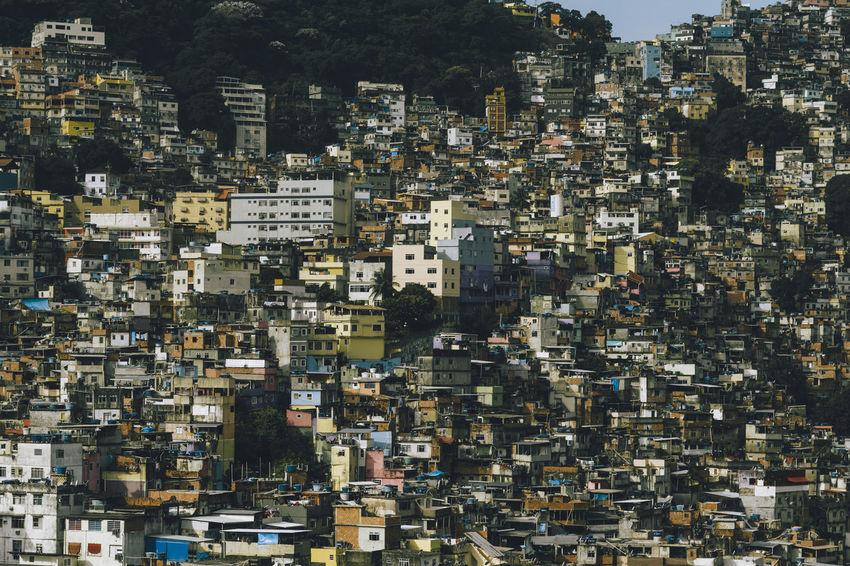 Favela da Rocinha, Rio de Janeiro - Brazil Brazil Favela Rocinha Poor  Rio De Janeiro Rocinha Architecture Building Exterior Built Structure City Cityscape Crowded Day Density Favela No People Outdoors Overcrowded Population Population Explosion Poverty Slum