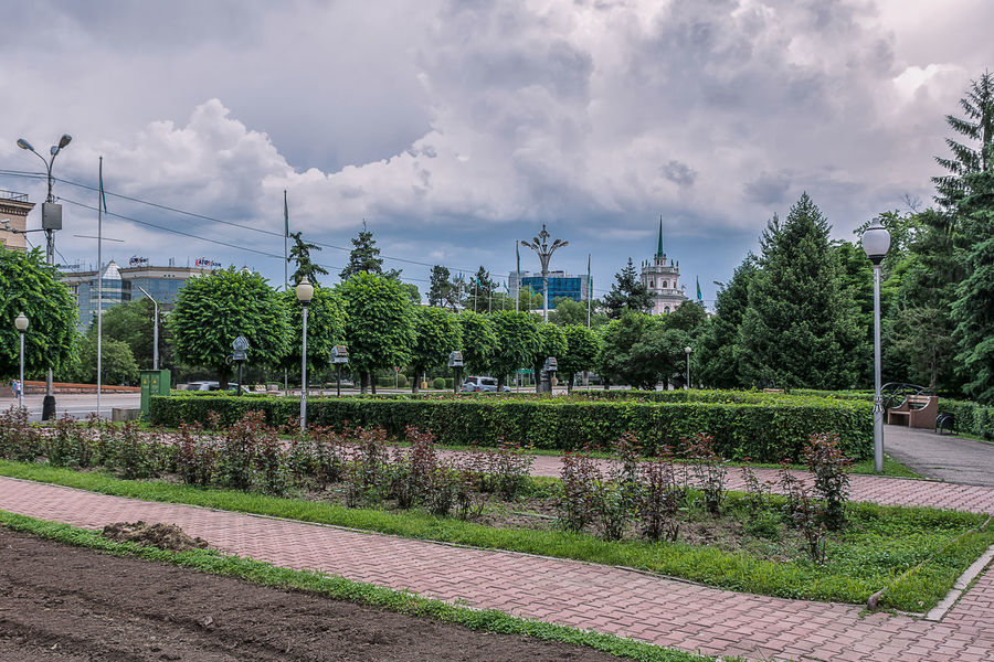 Almaty Almaty City Almaty, Kazakhstan AlmatyMyFirstLove Architecture Built Structure City City Life Cloud - Sky Clouds Clouds And Sky Day Green Green Color Growth Light Nature No People Outdoors Park Sky Street Street Photography Streetphotography Tree
