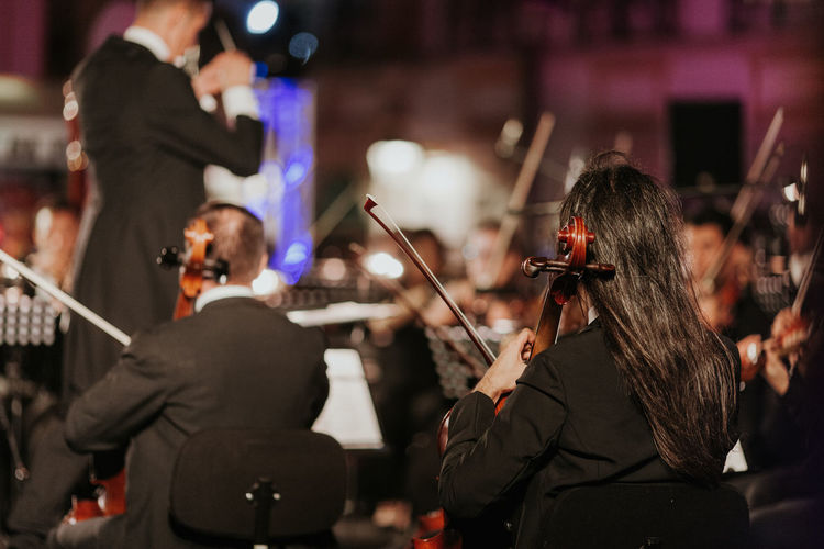 Arts Culture And Entertainment Cello Classical Concert Classical Music Large Group Of People Men Music Music Music Brings Us Together Musical Instrument Musical Instrument String Musician Orchestra Orchestra Concert  Orquestra Iberica Performance Performing Arts Event Playing Skill  Stage - Performance Space Violin