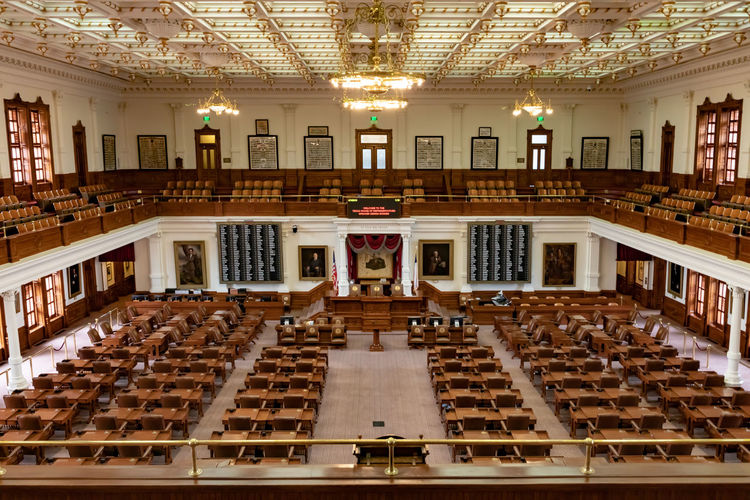 Texas House Austin State Capitol Representatives Leather Building Chamber Government Legislature  Floor Capital Downtown Travel Space City Empty Power Luxury Interior Star American Landmark America Indoor Executive  USA Historical Chair Desk Attraction United Balcony Editorial  Voting Congress Politic Design Editorial  Architecture Indoors  In A Row High Angle View