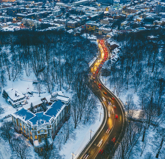 City traffic DJI X Eyeem Drone  Aerial Aerial View Europe Lithuania Winter Lietuva City Traffic City Traffic Winter Wonderland Long Exposure Road Mavic 2 Mavic 2 Pro Cold Temperature Snow Architecture Transportation High Angle View Nature Built Structure Building Exterior No People Building Outdoors Illuminated Landscape Residential District Mountain Journey Place Location