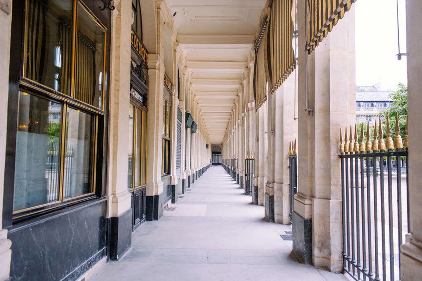 Grand Palais Architectural Column Architecture Built Structure Corridor Day France Grand Palais Paris Indoors  No People Paris The Way Forward