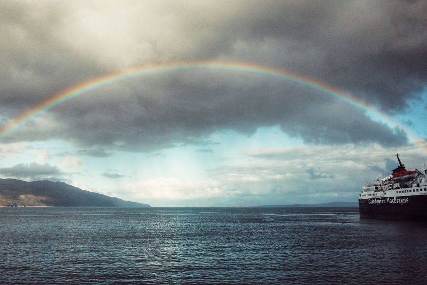 Beauty In Nature Rainbow Tranquil Scene Idyllic The Culture Of The Holidays Isle Of Mull Scotland Chance Encounters My Year My View Visual Creativity
