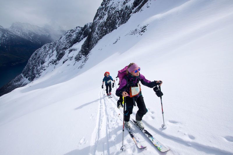 Nothing like making your own tracks backcountry. Fjord Landscape My Winter Favorites Nature Norway Skiing Snow Sport Telemark Touring Winter Winter Sport Winterwonderland