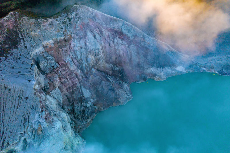 Panoramic view of rocks in water