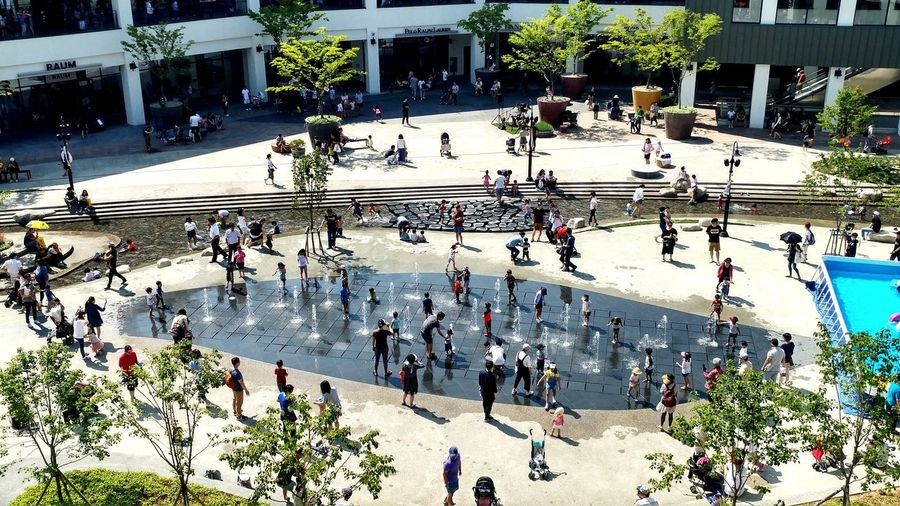 Square Fun In The WaterShopping Mall