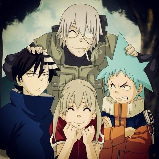 Souleater Naruto Blackstar es Naruto Maka es Sakura DeathTheKid es Sasuke SteinSensei es Takashi