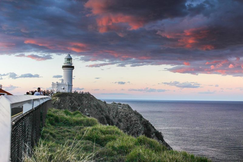 Byron Bay Beauty In Nature Horizon Over Water Lighthouse Nature Sea Sunset