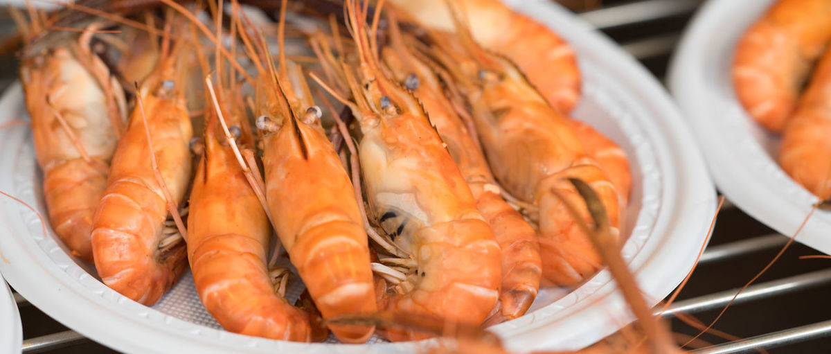 Close-up Day Food Food And Drink Freshness Giant Shrimps Healthy Eating Indoors  No People Orange Color Raw Food Ready-to-eat Seafood