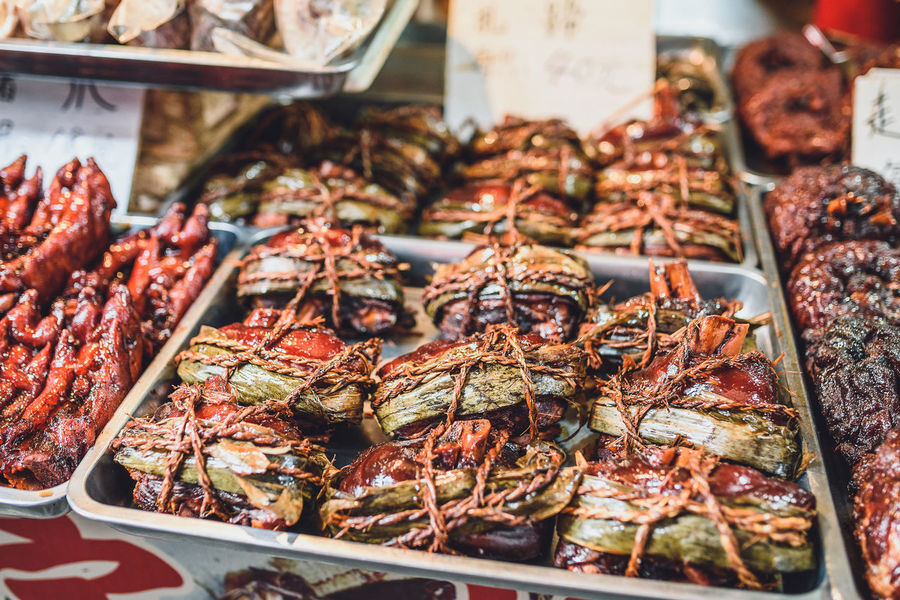 Street food in Zhujiajiao Ancient Town ASIA Cusine Choice Close-up Day Fish Market Food Food And Drink For Sale Freshness Healthy Eating Market Market Stall No People Price Tag Ready-to-eat Retail  Still Life Street Food