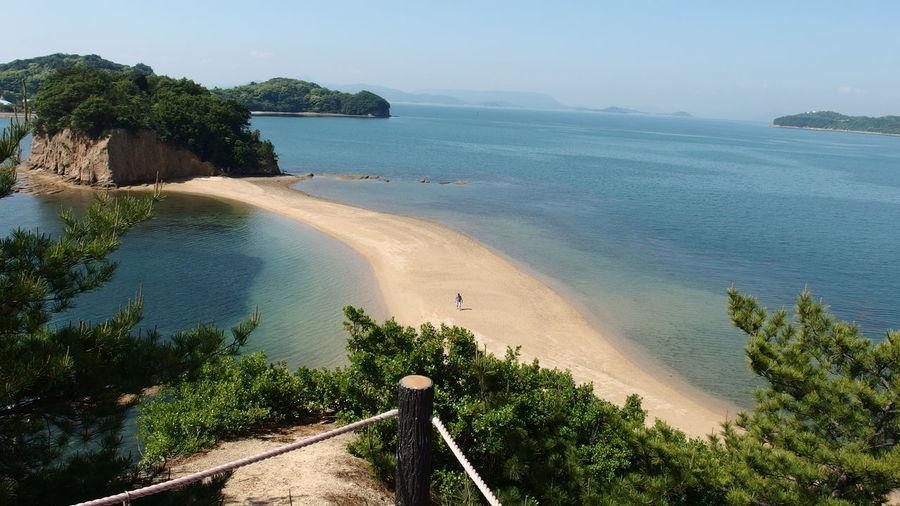 Japan 小豆島 エンジェルロード Ocean View Deautiful Natural Go Higher