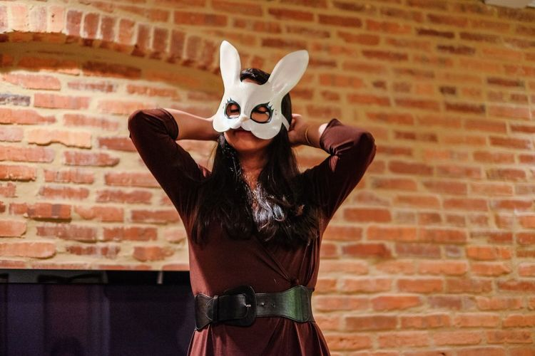 Bunny  Confidence  Creativity Curiosity Innocence Mask Person Preparation  Rabbit Woman Young Adult