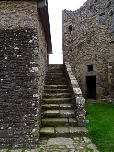 Old stone steps at Gratot castle, Normandy Architecture Building Exterior Built Structure Chateau Gratot Day Door Exterior France French Castle History Medieval No People Normandy Old Outdoors Sky Steps Stone The Way Forward Weathered