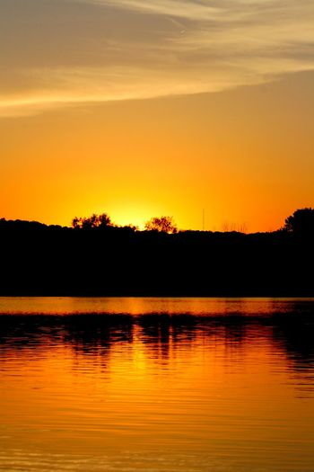 Beauty In Nature Evening Evening Sky Lake No People Orange Color Outdoors Reflection Scenics Silhouette Sky Sunrise_sunsets_aroundworld Sunset Sunset_collection Sunsets Tranquil Scene Tranquility Tree Water Monroe Lake