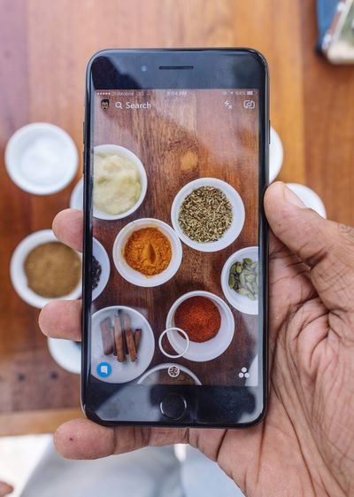 Ingredients Human Hand Human Body Part Portable Information Device Wireless Technology Smart Phone Real People Human Finger One Person Mobile Phone Table Coffee - Drink Holding Food And Drink Communication Indoors  Technology Food Close-up Sweet Food Freshness Foodphotography Maldives