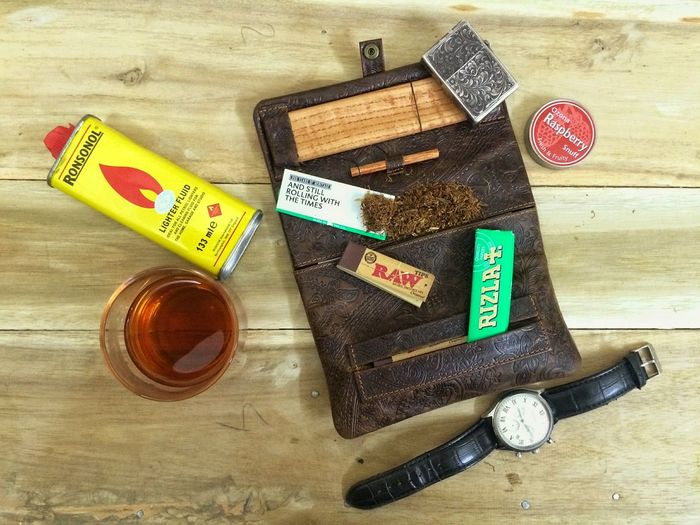 Zippo🔥 Table Lipton Tea Tobacco Handrolling Zilla Raw Flat