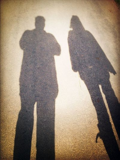 Me  My Wife  And Our Shadows