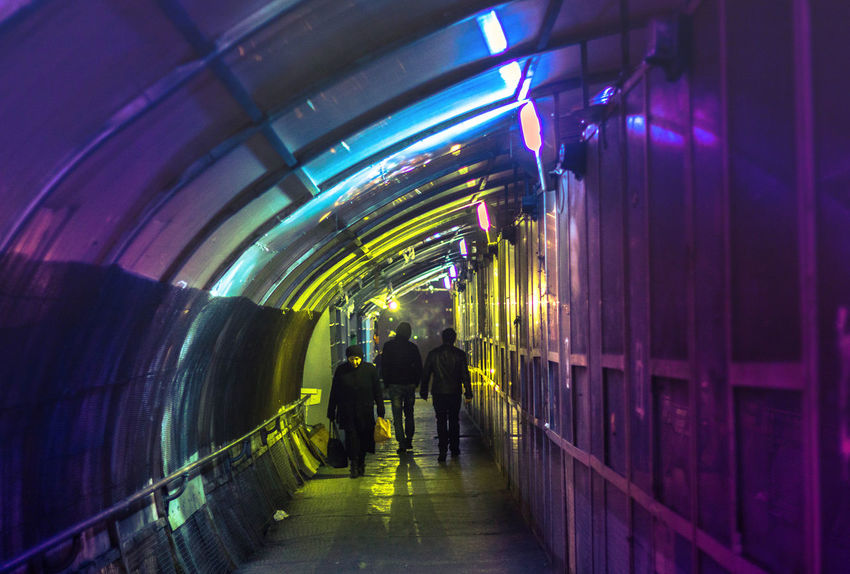 Canon600D Night Lights Night Photography Adult Architecture Canon Canon_official Canon_photos Canonphoto Canonphotography Full Length Illuminated Indoors  Men Night People Real People The Way Forward Togetherness Tunnel
