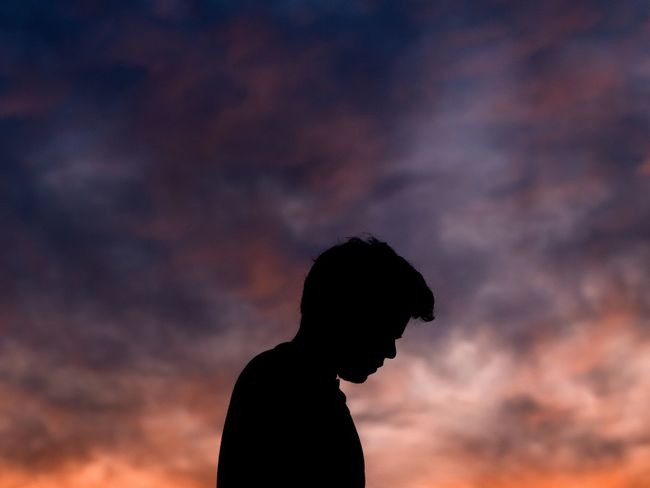 Lonely Silhouette Sunset Cloud - Sky Sky One Person Nature Outdoors Beauty In Nature Scenics Real People Lifestyles Men One Man Only Adult Adults Only Day People EyeEmNewHere