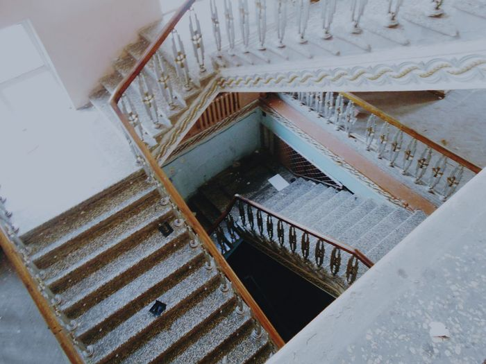 Steps And Staircases Steps Staircase Railing Spiral Staircase High Angle View Indoors  Spiral Architecture Built Structure Stairs Hand Rail Spiral Stairs Railings Steps And Staircase Building Story Man Made Structure Bannister Stairway No People