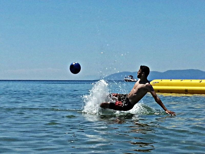 That's Me Swimming Sea Football