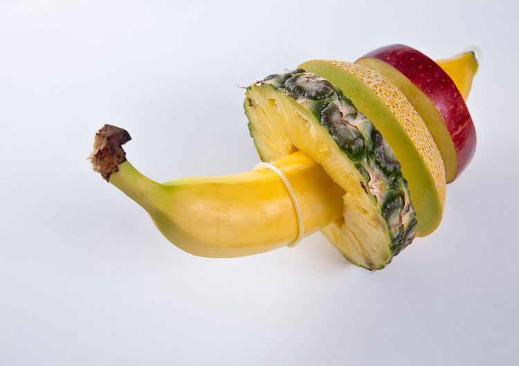 prevention protects life AIDS Campaign Apple Banana Funny Aids Annanas Apple - Fruit Close-up Commercial Condom Cut Out Food Food And Drink Freshness Fruit High Angle View Melon Prevent Prevention Save Still Life Studio Shot Vegetable Venereal Disease White Background EyeEmNewHere