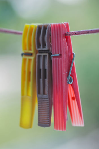 Clothing line against nature background Close Up Close-up Clothes Clothesline Clothespin Coathanger Colour Day Detail Focus On Foreground Hanging Nature Naturelovers No People Outdoors Pin Travel